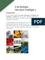 15 Temas de Biología Interesantes Para Investigar y Exponer