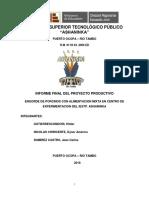 Informe-proyecto Produccion de Porcinos - 2018