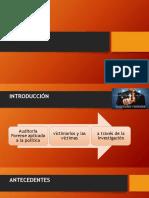 Auditoría forense aplicada a la política