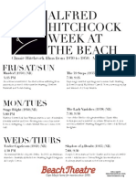 Alfred Hitchcock week at the Beach Theatre