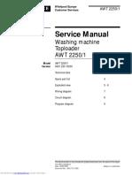 Whirlpool AWT 2250-1 Service Manual