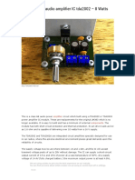 Circuit Power Audio Amplifier IC Tda2002 - 8 Watts - Xtronic