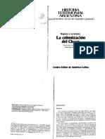 Iñigo Carrera, Nicolás (1983 - La Colonización Del Chaco. Prólogo