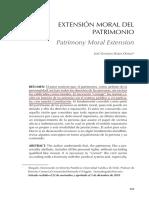 Extension Moral Del Patrimonio