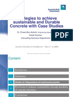 Stratrgies to Achive Sustainable and Durable Concrete