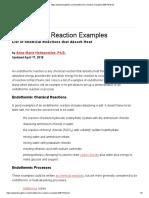 Endothermic Reaction Examples 608179
