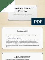 Seleccion y diseños de procesos