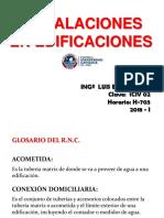 Instalaciones sanitarias Dotacion, Gasto, Caudal, Almacenamiento