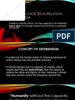 Value of choices in Relation to Freedom