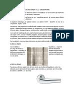 Tipos de Aleaciones de Acero Usadas en La Construcción