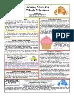 Oct 2019 Sebring Meals on Wheels newsletter