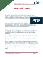 SIS-Corporate Fact Sheet. (1)