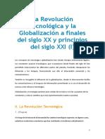 REVOLUCIÒN CRONOLÒGICA Y LA GLOBALIZACIÒN A PRINCPIOS DEL SIGLOXX