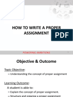 How to Write a Proper Assignment
