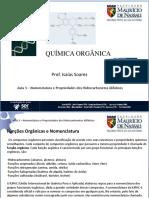 Química Orgânica-Nomenclatura e Propriedade Dos Hidrocarbonetos Alifáticos