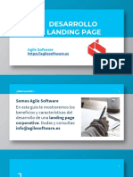 Agile Software landing Page