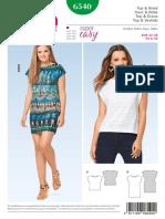 Blusa y Vestido Burda 6540