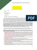 City Letter Stop 5G Wireless Ordinance