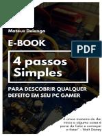eBook - 4 Passos Simples Para Descobrir Qualquer Defeito Em Seu PC GAMER