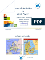 Research activities in wind power