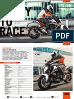 Fichas Técnica KTM 250 DUKE