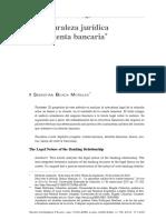 La naturaleza juridica de las cuentas bancarias