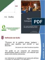 Unidad Tematica 4-1 Definiciones Grafos - Seccion 1