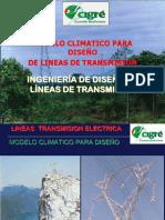 Modelos climáticos para diseño de líneas de transmisión eléctrica