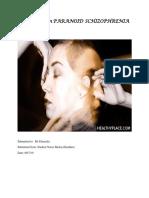 Case study on    PARANOID   SCHIZOPHRENIA Melisa 19.docx