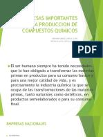 empresas nacionales e internacionales importantes en la produccion quimica