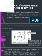 Determinación Del Nivel de Servicio Optimo