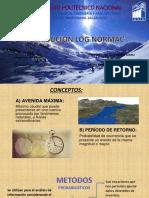 Funcion de probabilidad Log Normal Hidrologia