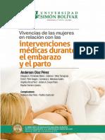 Vivencias de las mujeres en relación con las intervenciones médicas durante el embarazo y el parto