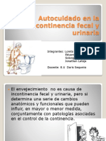 Incontinencia Fecal y Urinaria