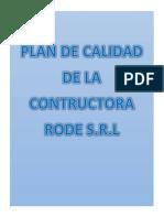 Plan de Calidad Original