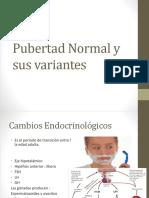 Pubertad Normal y Sus Variantes