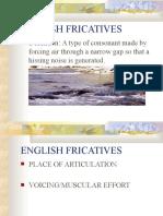 English Fricatives