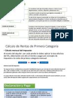 Renta Primera Categoria 2019