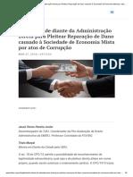 Jessé Torres - Ilegitimidade Do Ente Da Administração Direta Para Pleitear Reparação de Dano Causado à Sociedade de Economia Mista Por Atos de Corrupção