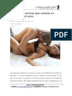 35 Grandes Errores Que Comete Un Hombre en El Sexo
