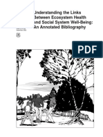 Links Between Ecosystem Health and Social System Well-being