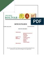 Matriz de Peligros de Rafael Antonio Medrano Actualizada