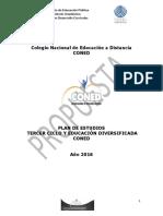 Plan de Estudio Coned