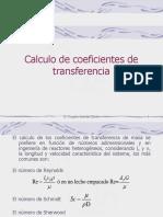 cálculos de coeficientes