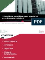 Lixiviación de Metal Blanco Con NaClO-NH3OH