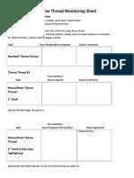 theme thread monitoring sheet