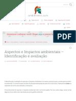 Aspectos e Impactos ambientais - Identificação e avaliação - Ambiente SST.pdf