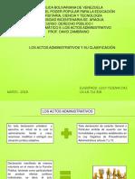 Actos Administrativos y Clasificacion Nucleo II Leicy Diaz Derecho Publico i 2019 Prueba