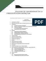 MEDIOS DE SOLUCIÓN DE CONTROVERSIAS EN LA ETAPA DE EJECUCIÓN CONTRACTUAL