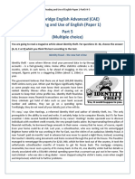Reading and Use of English-Paper 1-Part5-H-5
